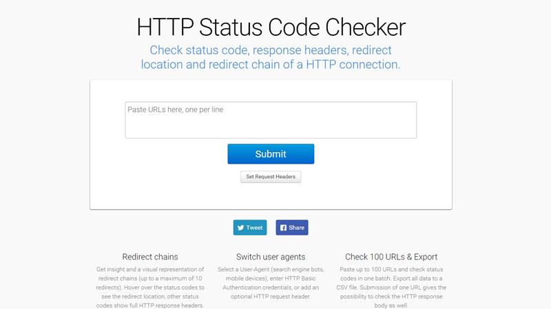 HTTP Status Code Checker